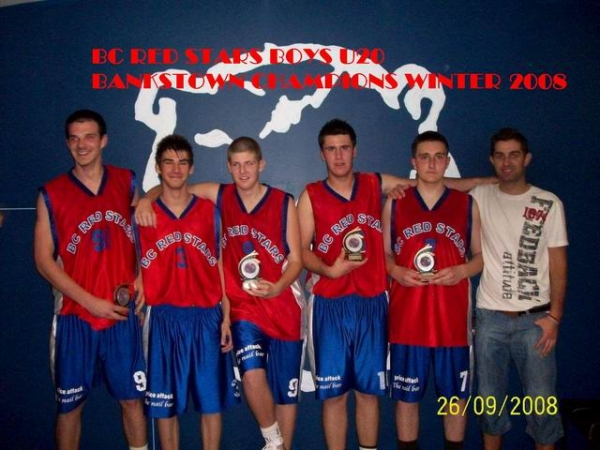 Red Stars Basketball Club Boys Under 20 Div 1 Bankstown Champions for Winter 2008