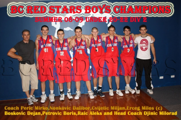 Basketball Club Red Stars Boys U/22 Div 2 Bankstown Champions for Summer 2009