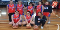 Red Stars Basketball Club Women Team Champions Div2 for Bankstown Winter14