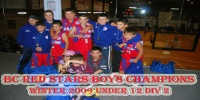 BC Red Stars Boys Under 12 Div 2 Bankstown Champions for Winter 2009