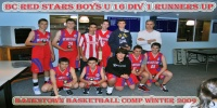 Red Stars Basketball Club Boys U/16 Div 1 Runners Up for Bankstown Winter 2009