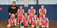 Red Stars Basketball Club Boys U/12 Div1 Runners up for Bankstown Winter 2020
